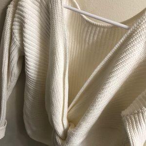 Roxy Open Back Sweater
